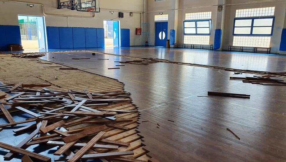 Νέο παρκέ στο γήπεδο Μπάσκετ των Αργοναυτών