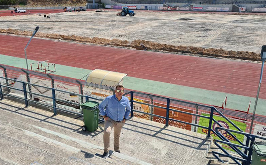 Σε εξέλιξη η ανακατασκευή του Α Σταδίου Αργυρούπολης