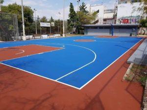 Δύο ακόμα γήπεδα μπάσκετ παραδόθηκαν στα παιδιά μας
