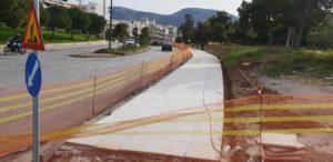 Συνέχεια των εργασιών για την περιμετρική ανάπλαση του πάρκου Αφροδίτης