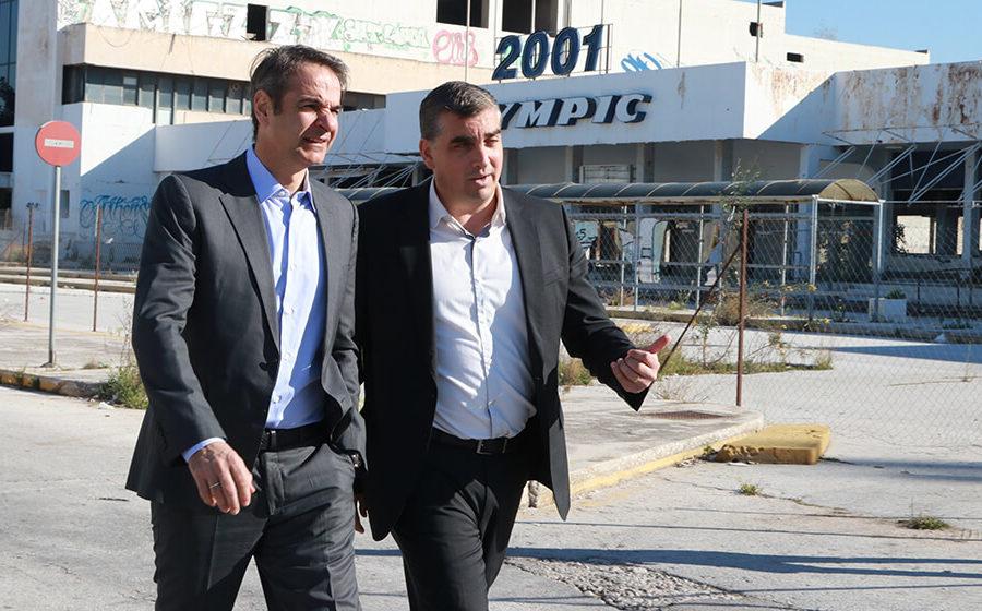 Επίσκεψη του προέδρου της ΝΔ Κυριάκου Μητσοτάκη στο πρ. Αεροδρόμιο του Ελληνικού