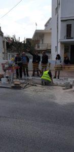 Παρέμβαση στο πεζοδρόμιο της Λ Ιασωνίδου