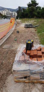 Από το πάρκο Αφροδίτης στην Κύπρου άρχισε η νέα εργολαβία επισκευής και συντήρησης πεζοδρομίων
