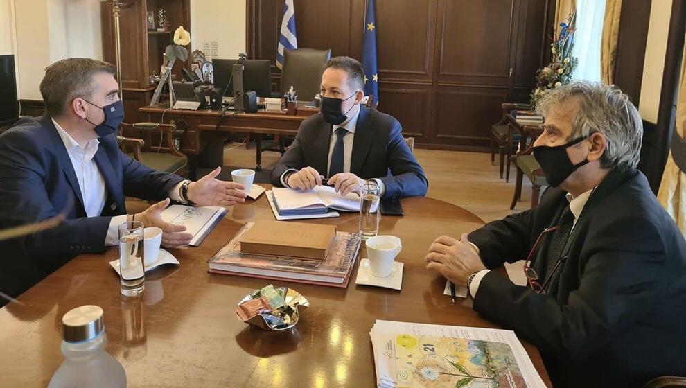 συνάντηση Αναπληρωτή Υπουργό Εσωτερικών Στέλιο Πέτσα Γιάννης Κωνσταντάτος