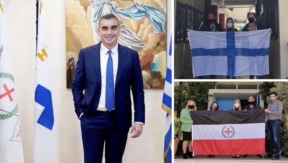 Σημαίες επανάστασης Δήμο μας Γιάννης Κωνσταντάτος